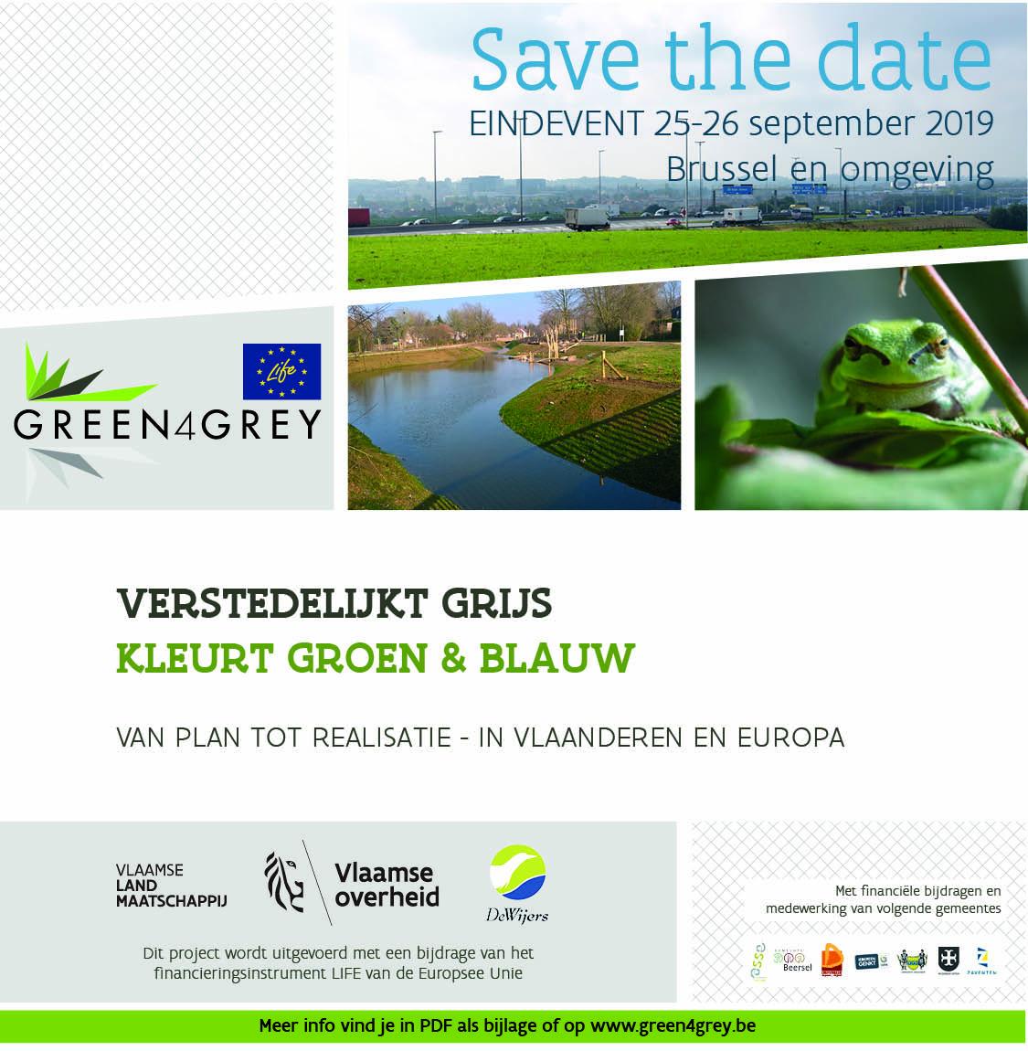 Foto toont meer info over het eindevent Green4Grey Verstedelijkt grijs kleurt groen en blauw